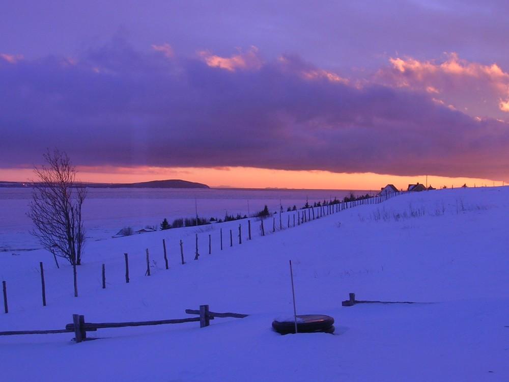 coucher de soleil hiver