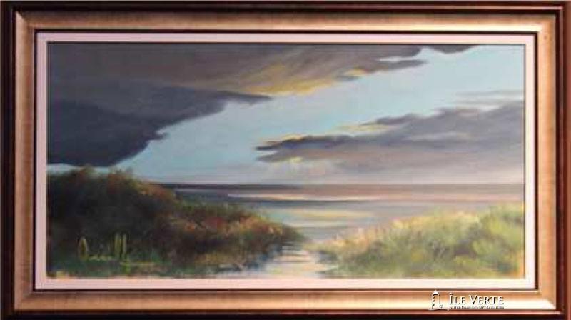 Huile sur toile 12x20. Peintre verdoyant Jean-Bernard Ouellet