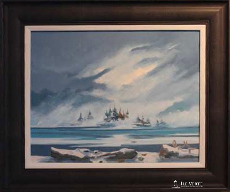 1Huile sur toile 14x18. Peintre verdoyant Jean-Bernard Ouellet