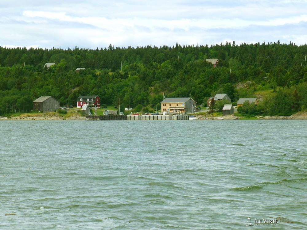 L'île verte vue du large