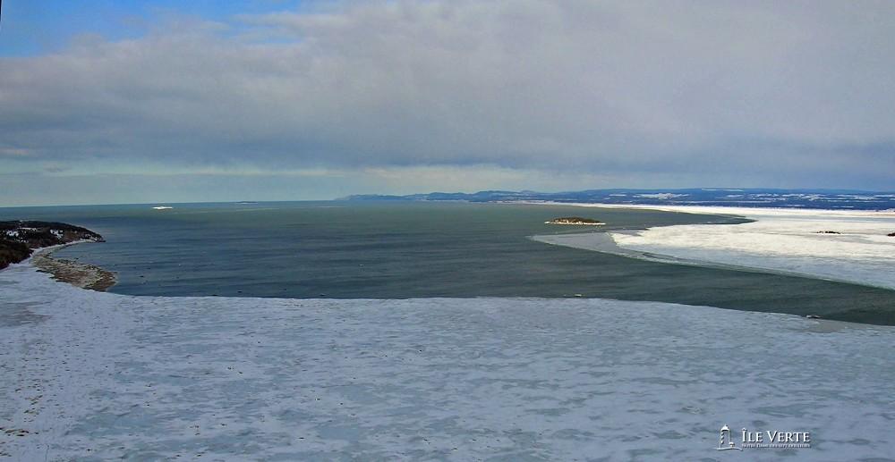 Pont de glace vue hélicoptère